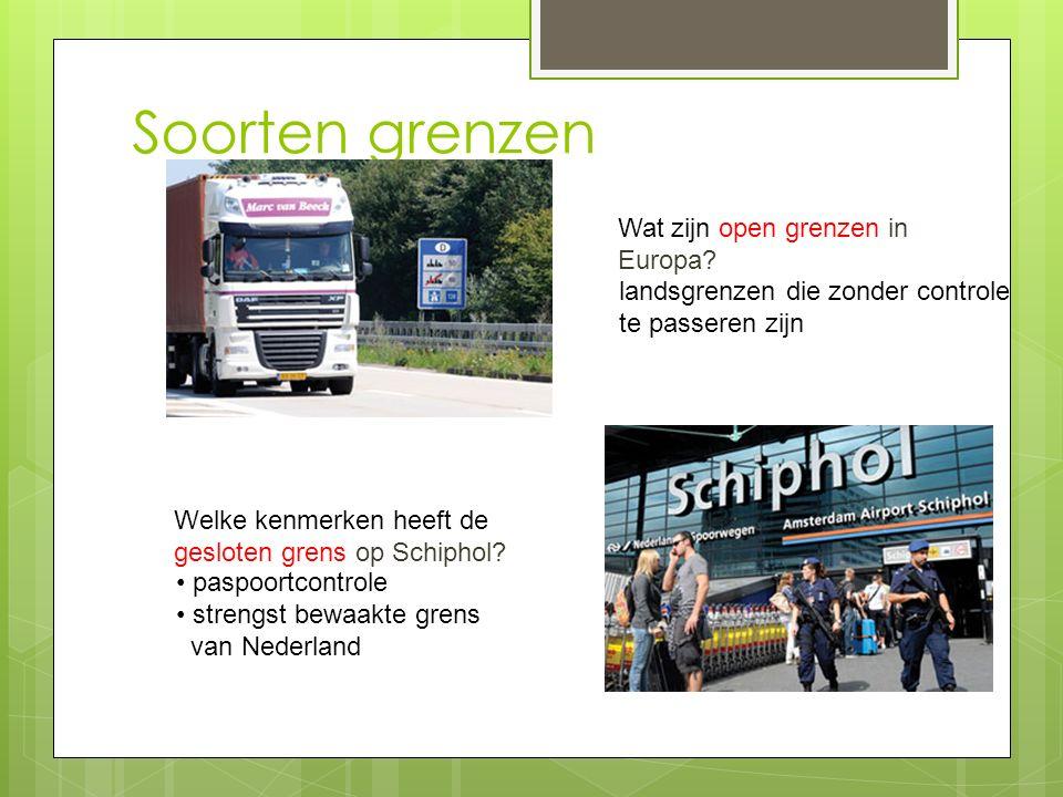 Soorten grenzen Wat zijn open grenzen in Europa