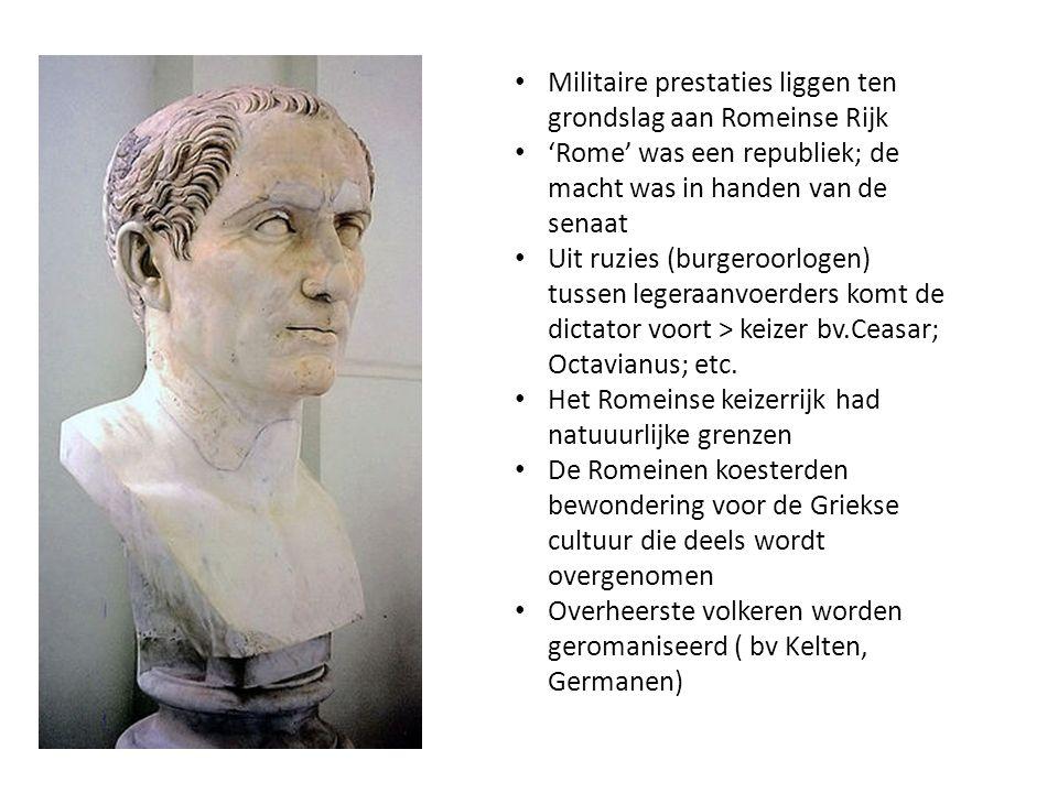 Militaire prestaties liggen ten grondslag aan Romeinse Rijk