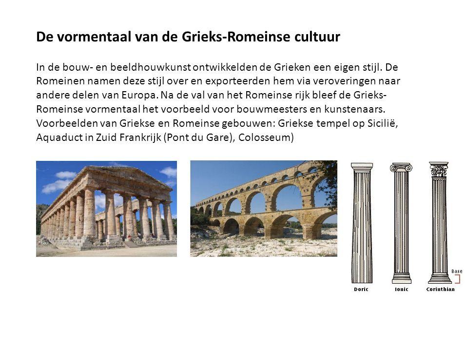 De vormentaal van de Grieks-Romeinse cultuur