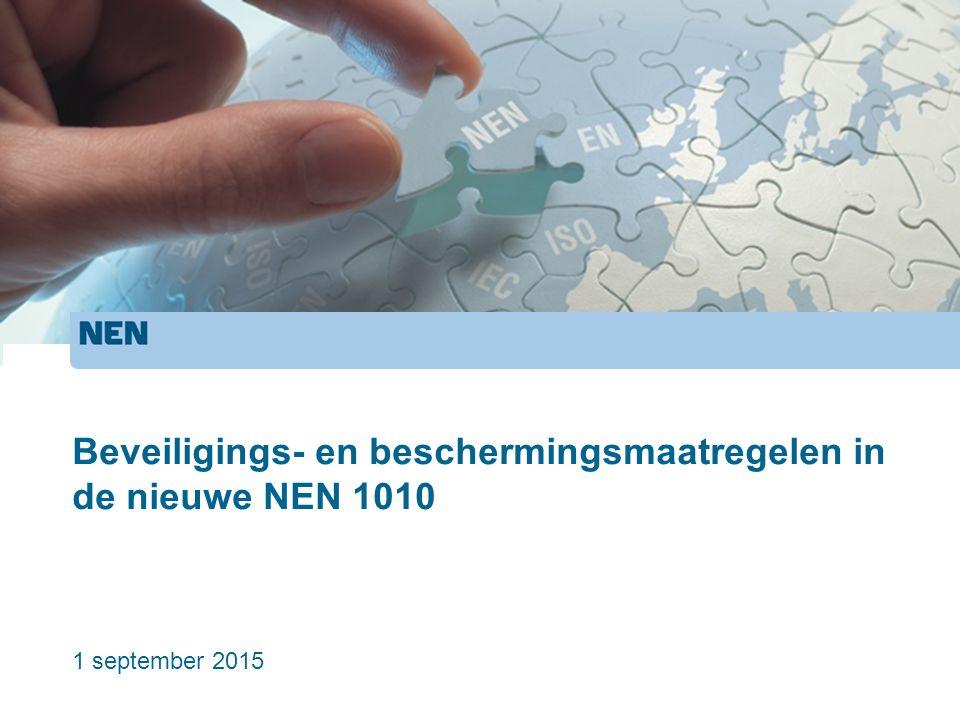 Beveiligings- en beschermingsmaatregelen in de nieuwe NEN 1010 1 september 2015