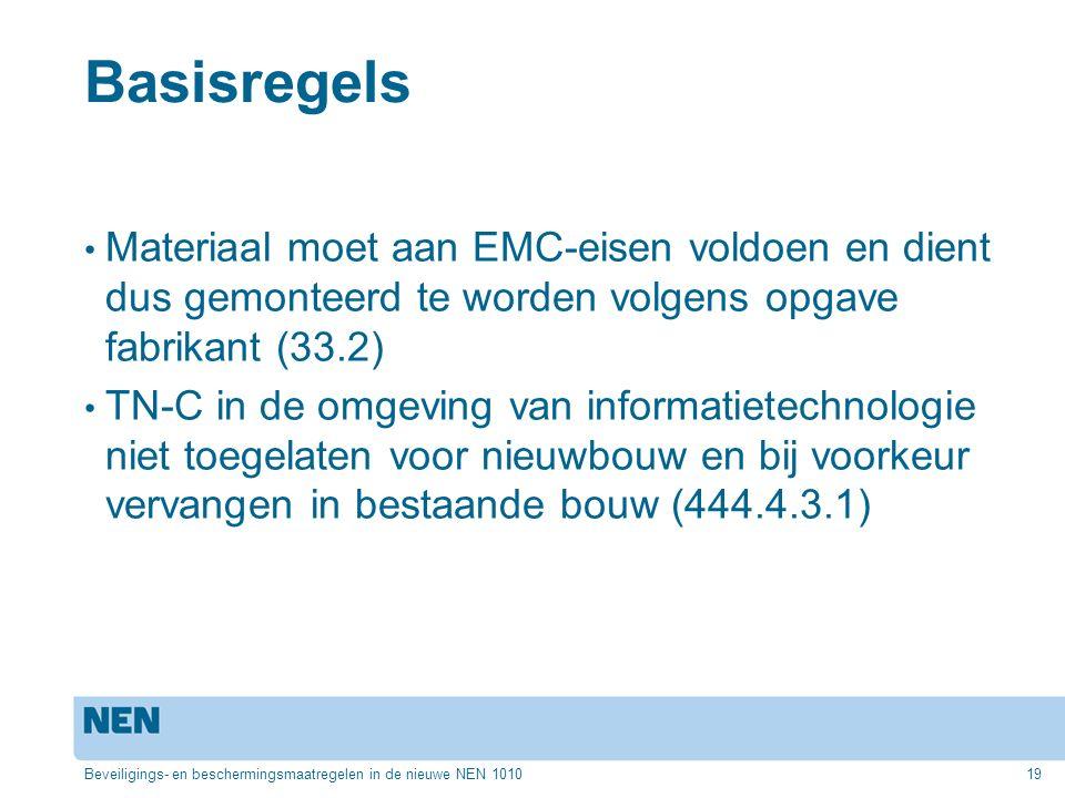 Basisregels Materiaal moet aan EMC-eisen voldoen en dient dus gemonteerd te worden volgens opgave fabrikant (33.2)
