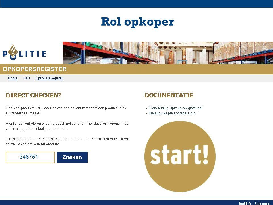 Rol opkoper 348751 Deventer 10-3 Digitaal Opkopers Register (DOR) - Politie-eenheid Oost-Nederland