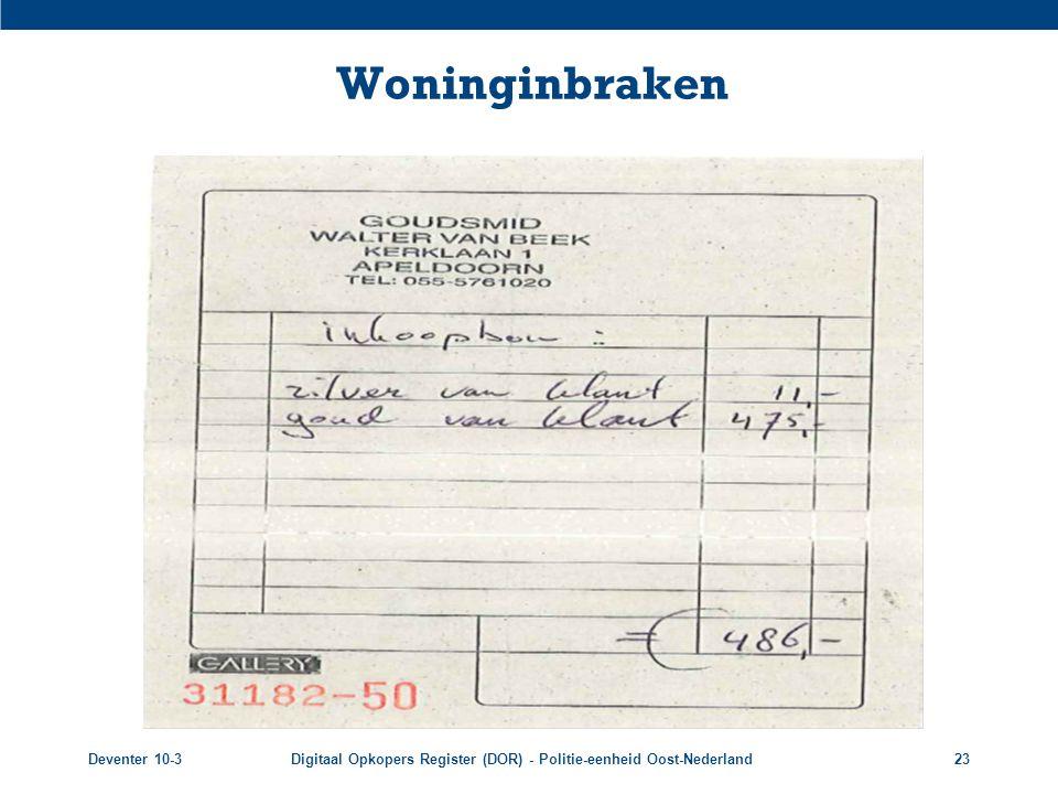 Woninginbraken Deventer 10-3