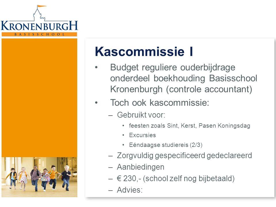 Kascommissie I Budget reguliere ouderbijdrage onderdeel boekhouding Basisschool Kronenburgh (controle accountant)