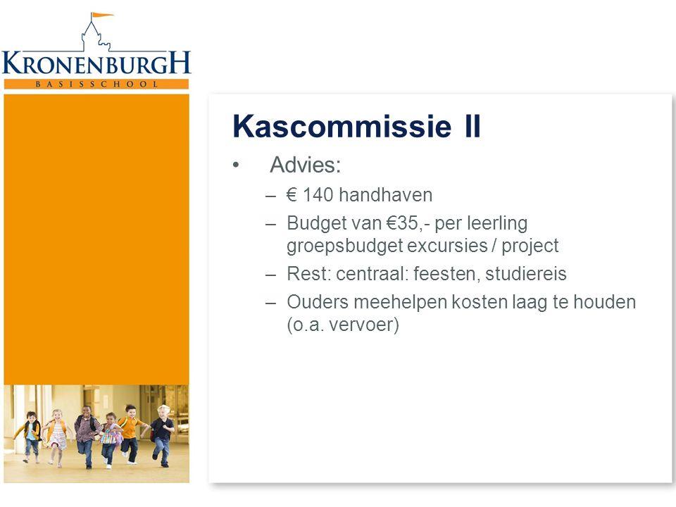 Kascommissie II Advies: € 140 handhaven