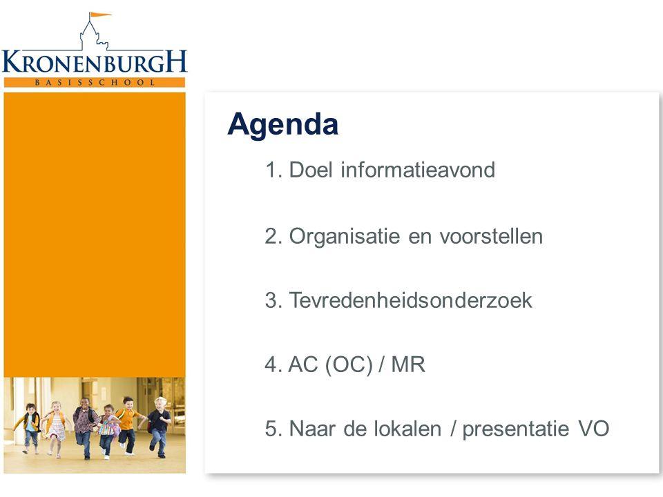 Agenda 1. Doel informatieavond 2. Organisatie en voorstellen