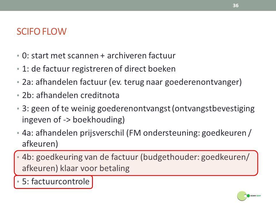 SCIFO FLOW 0: start met scannen + archiveren factuur