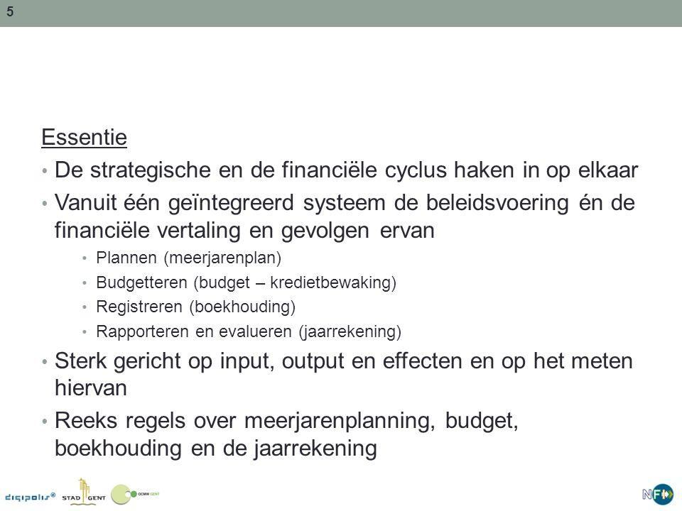 De strategische en de financiële cyclus haken in op elkaar