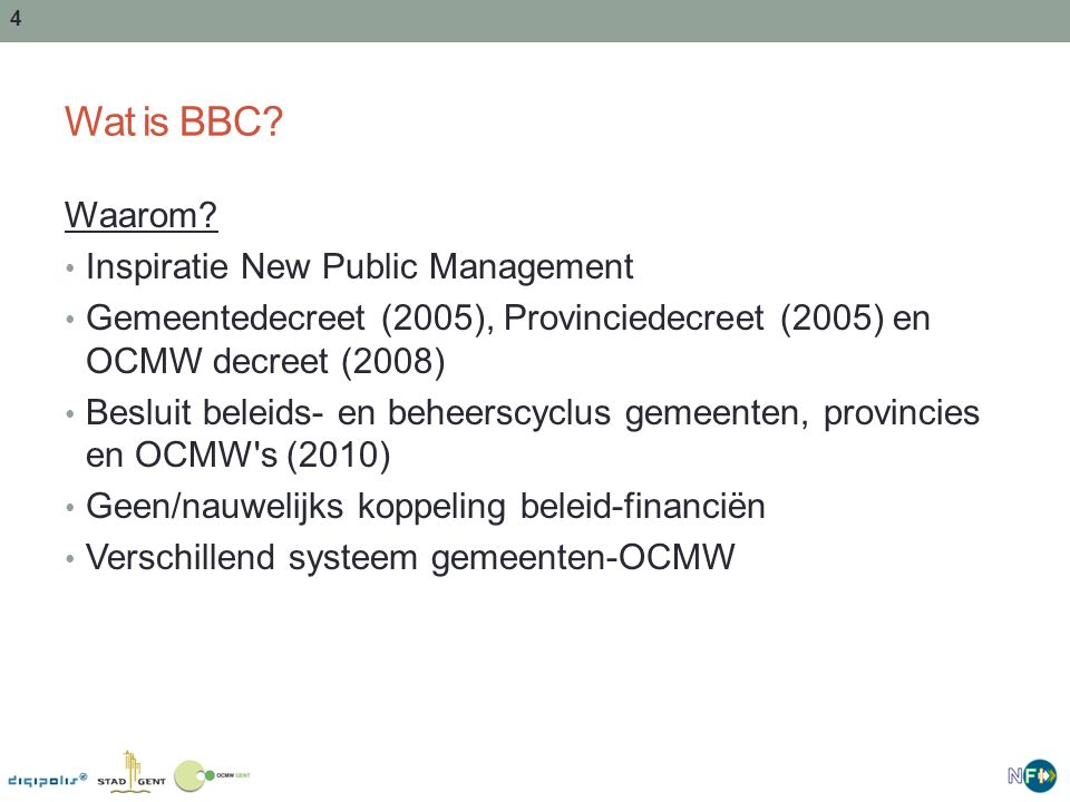 Wat is BBC Waarom Inspiratie New Public Management