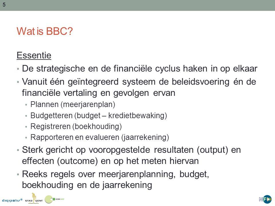 Wat is BBC Essentie. De strategische en de financiële cyclus haken in op elkaar.