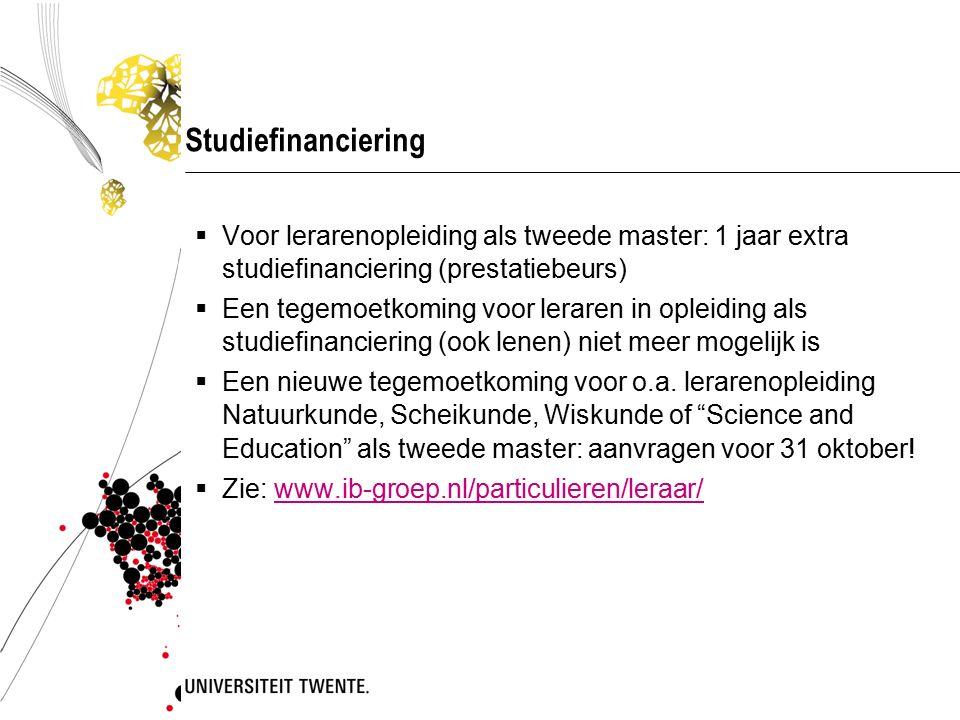 Studiefinanciering Voor lerarenopleiding als tweede master: 1 jaar extra studiefinanciering (prestatiebeurs)