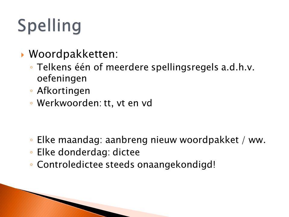 Spelling Woordpakketten: