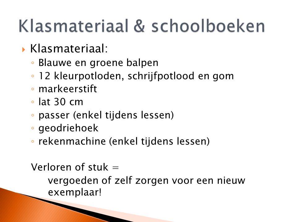 Klasmateriaal & schoolboeken