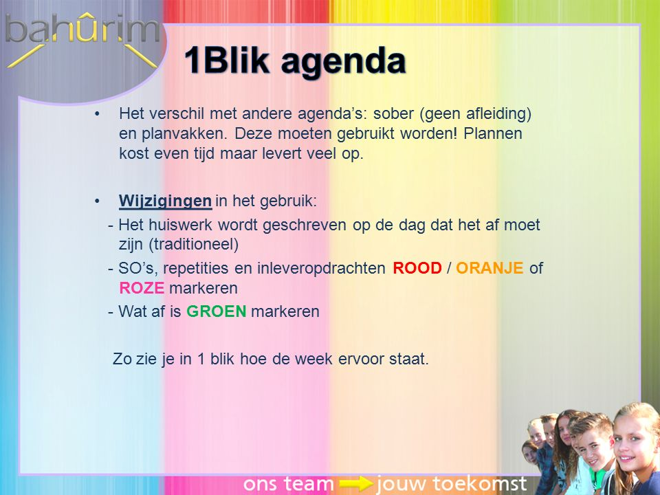 1Blik agenda