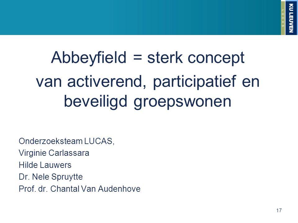 Abbeyfield = sterk concept