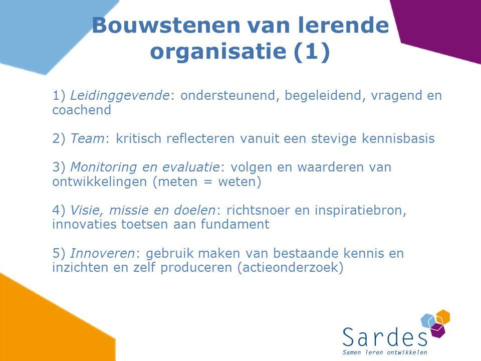 Bouwstenen van lerende organisatie (1)