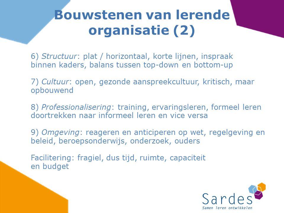 Bouwstenen van lerende organisatie (2)