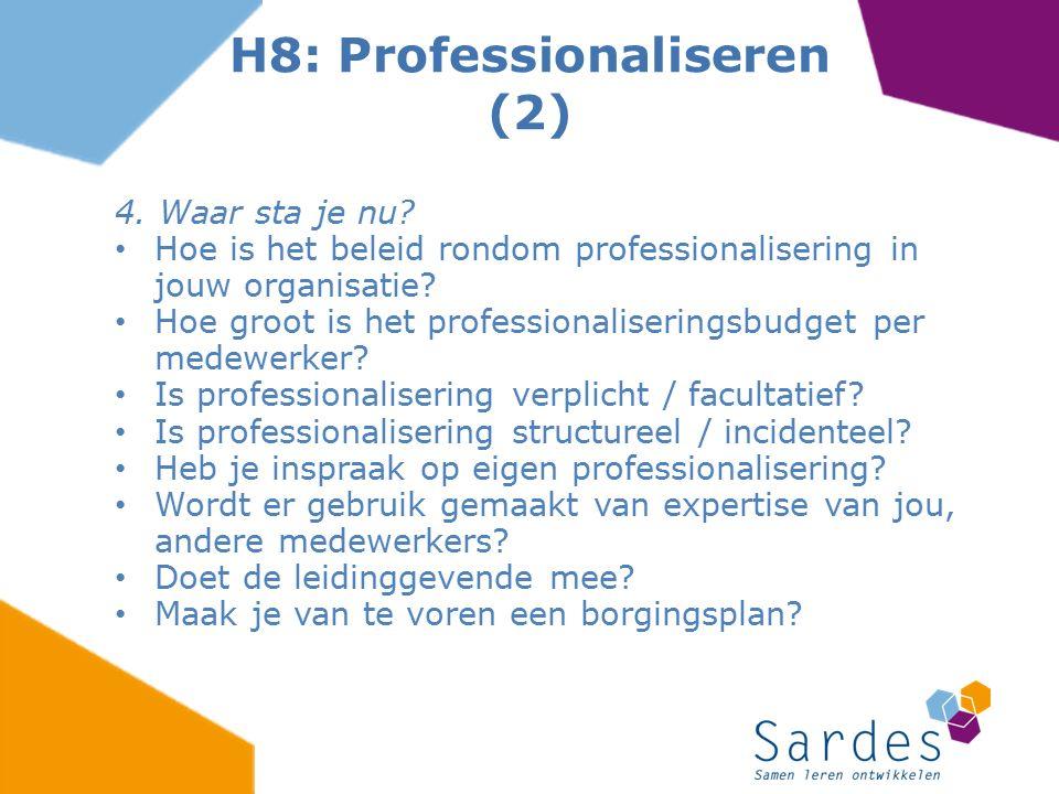 H8: Professionaliseren (2)