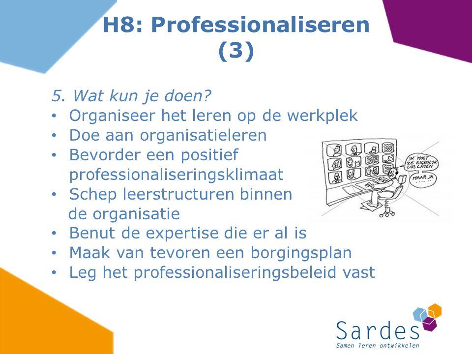 H8: Professionaliseren (3)