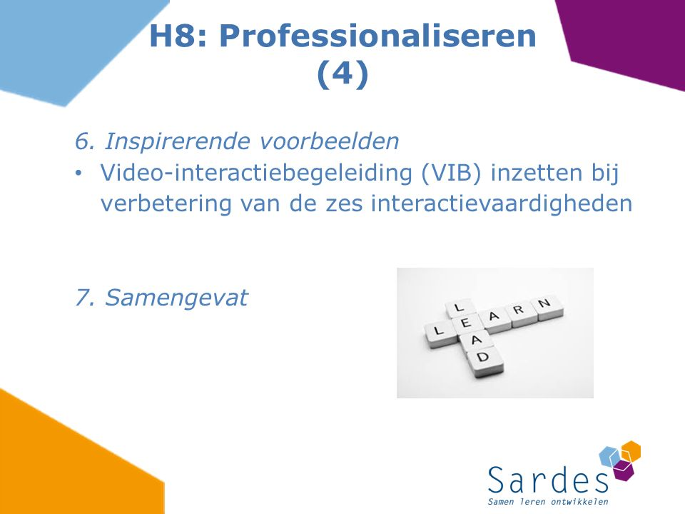 H8: Professionaliseren (4)