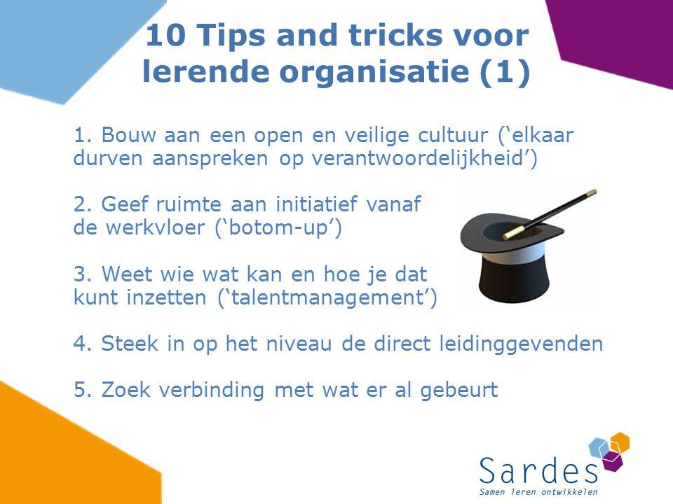 10 Tips and tricks voor lerende organisatie (1)