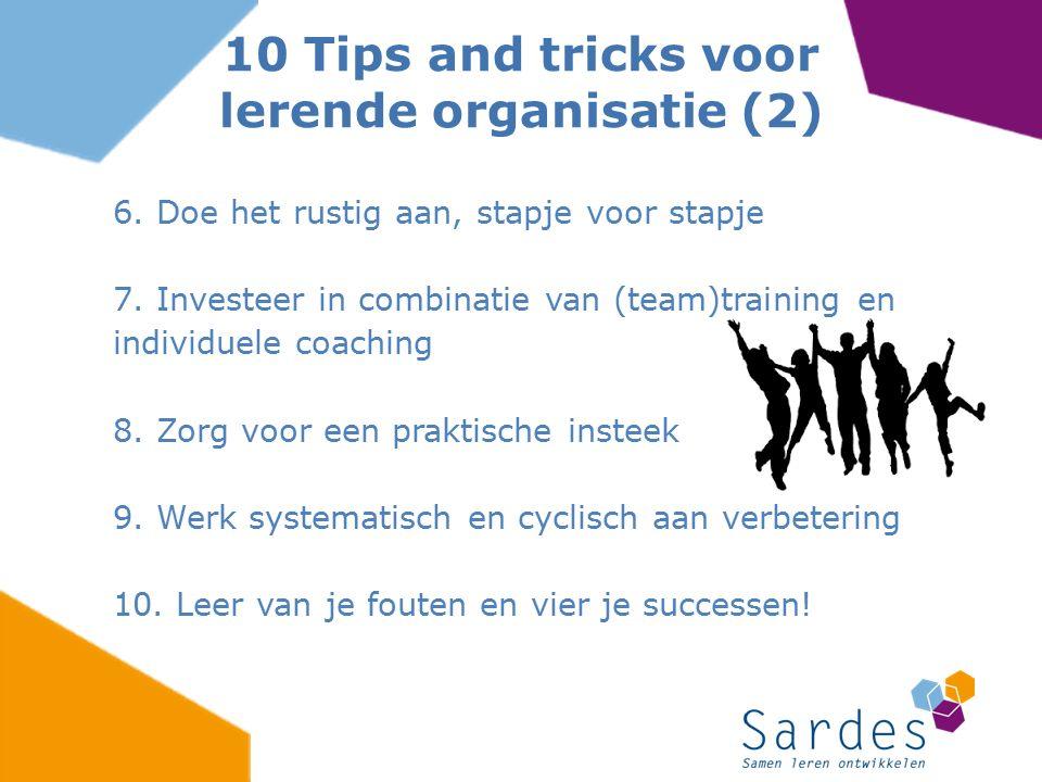 10 Tips and tricks voor lerende organisatie (2)