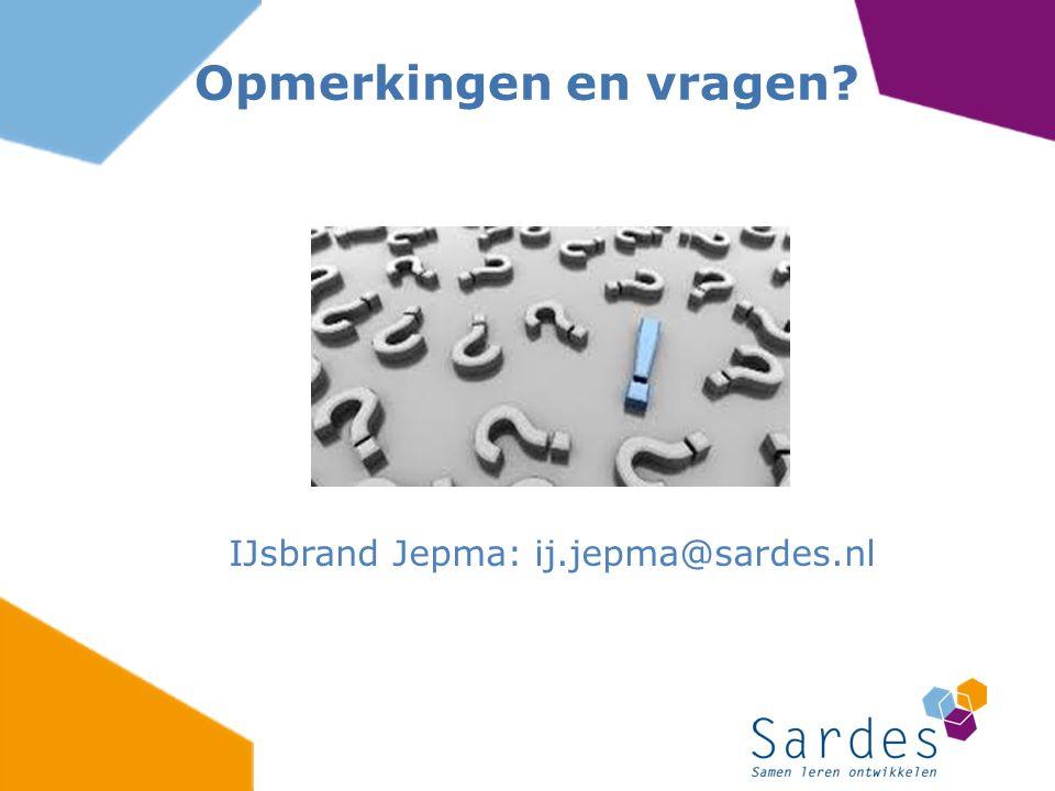 IJsbrand Jepma: ij.jepma@sardes.nl
