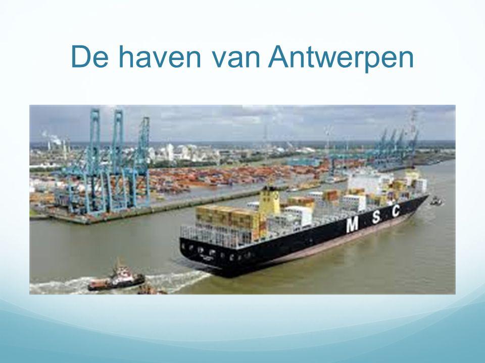 De haven van Antwerpen