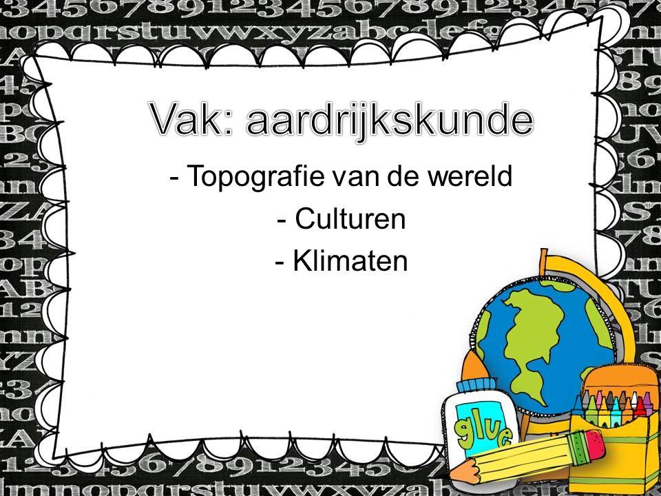 Topografie van de wereld