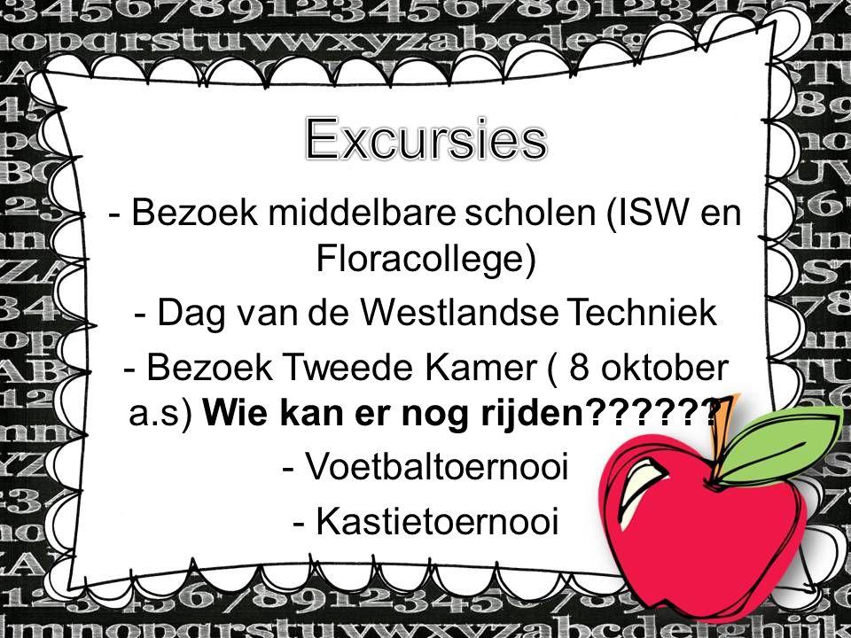 Excursies - Bezoek middelbare scholen (ISW en Floracollege)