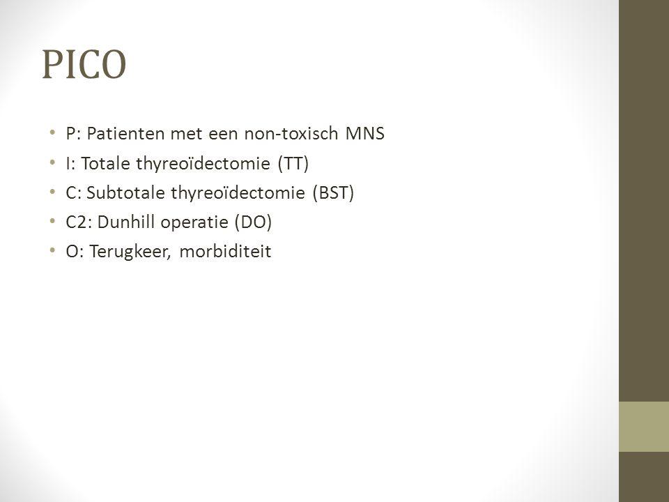 PICO P: Patienten met een non-toxisch MNS