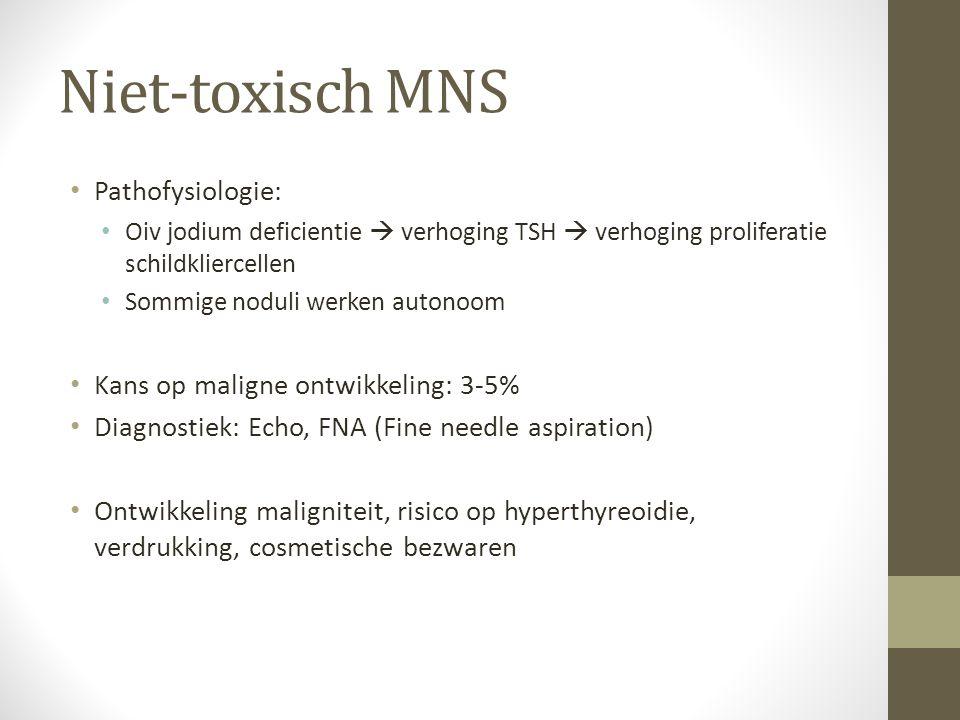Niet-toxisch MNS Pathofysiologie: Kans op maligne ontwikkeling: 3-5%