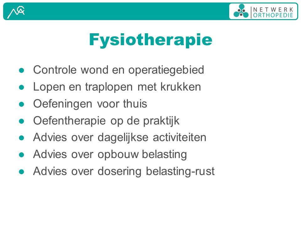 Fysiotherapie Controle wond en operatiegebied