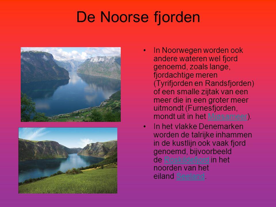 De Noorse fjorden