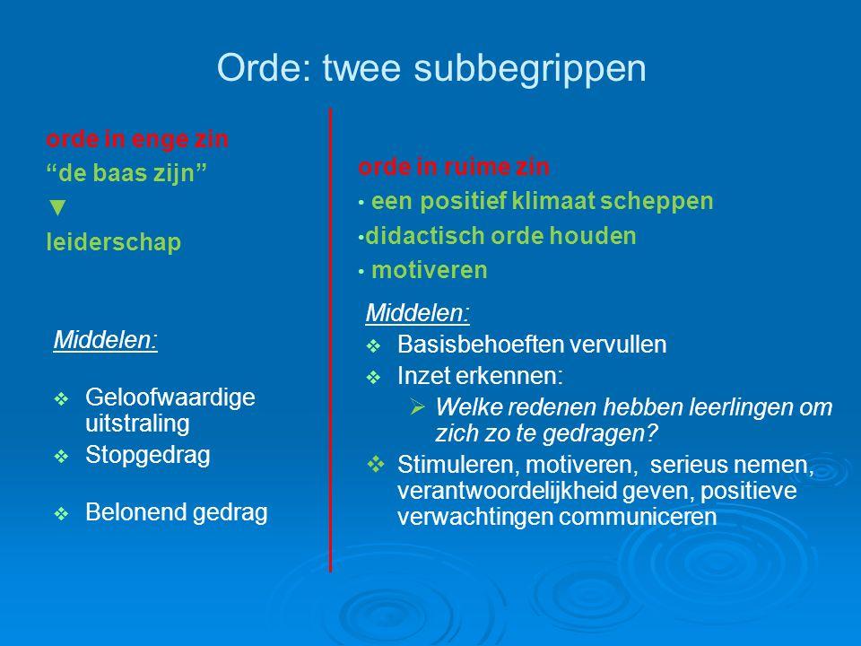 Orde: twee subbegrippen