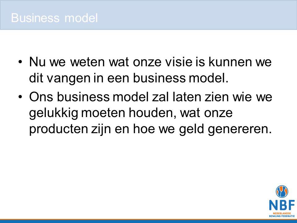 Business model Nu we weten wat onze visie is kunnen we dit vangen in een business model.
