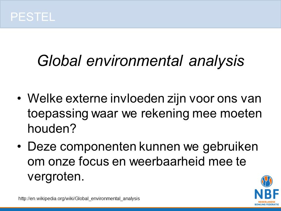 Global environmental analysis