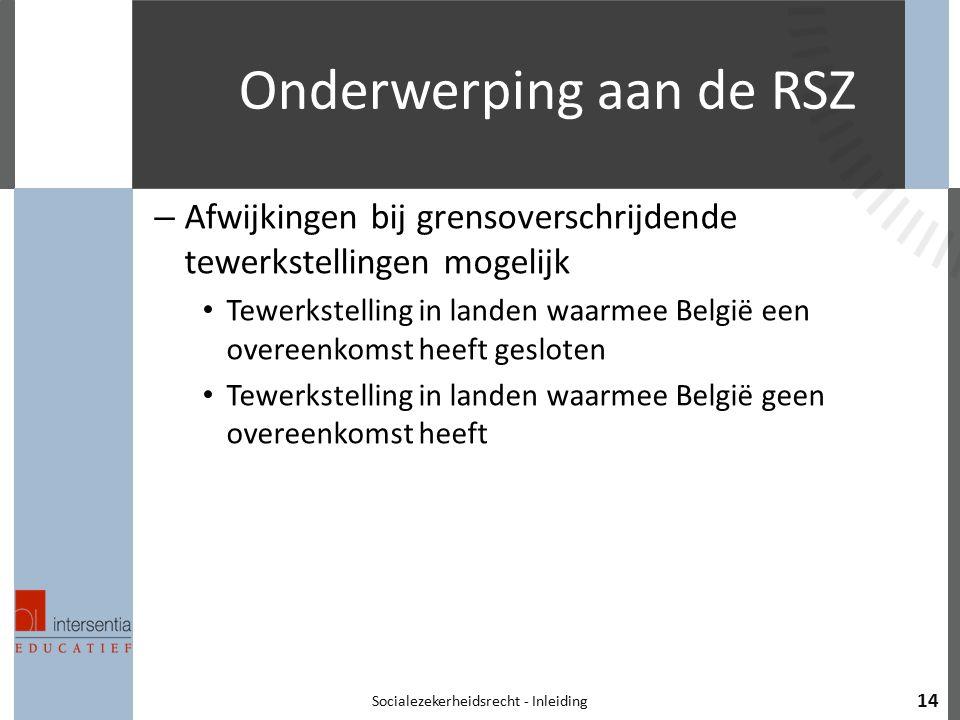 Onderwerping aan de RSZ