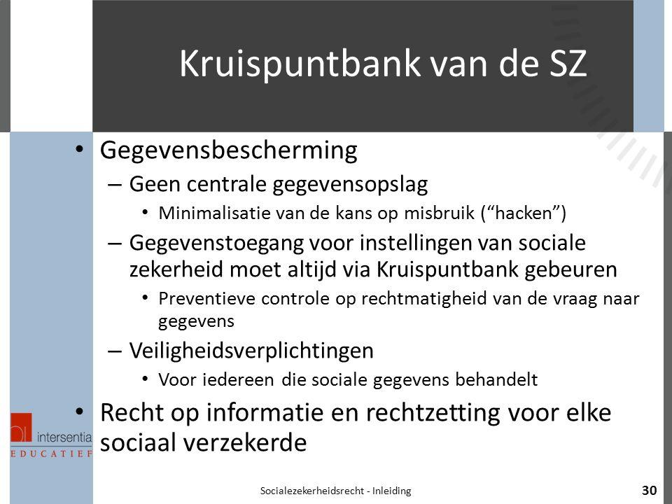 Kruispuntbank van de SZ