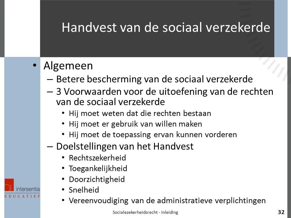 Handvest van de sociaal verzekerde