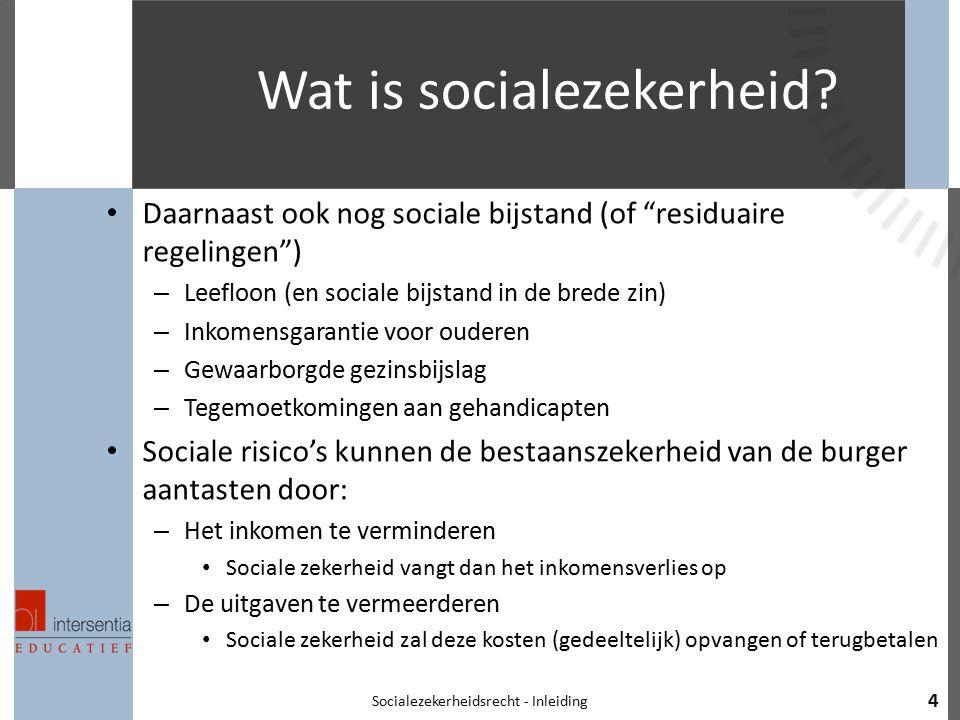Wat is socialezekerheid