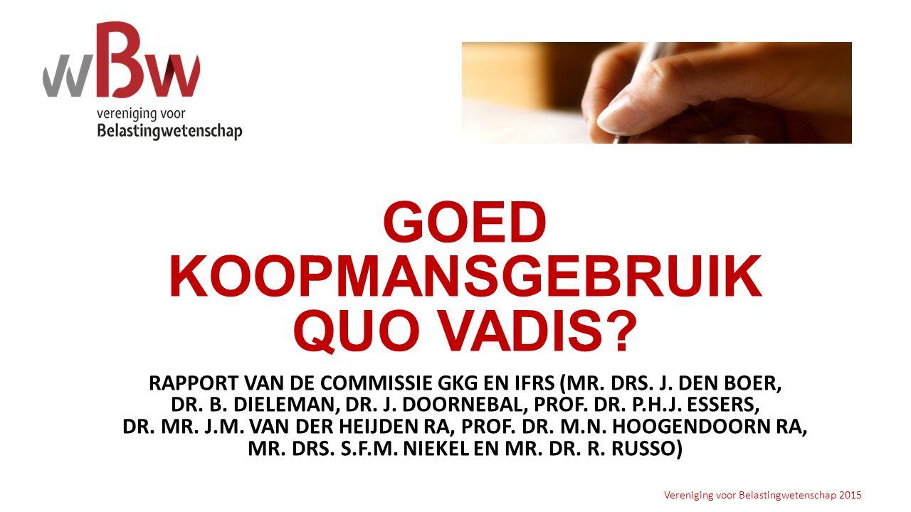 GOED KOOPMANSGEBRUIK QUO VADIS