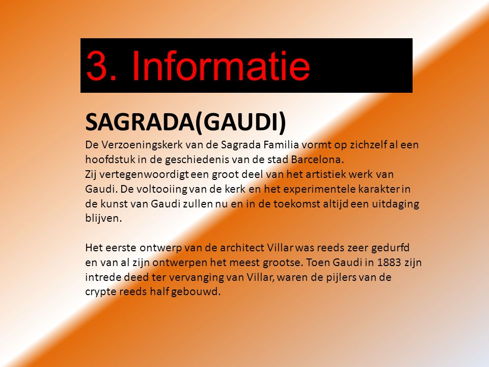 3. Informatie SAGRADA(GAUDI)