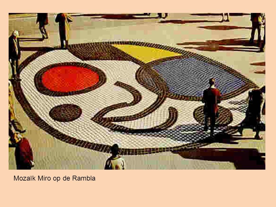 Mozaïk Miro op de Rambla