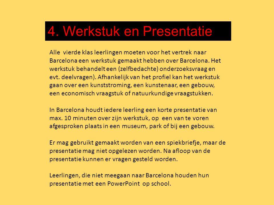 4. Werkstuk en Presentatie