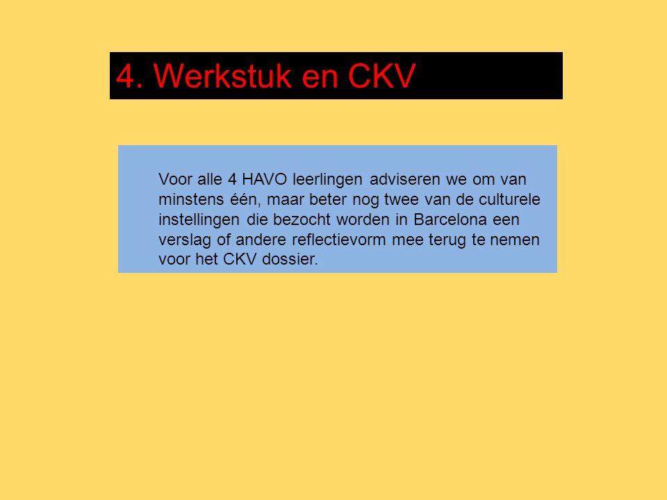 4. Werkstuk en CKV