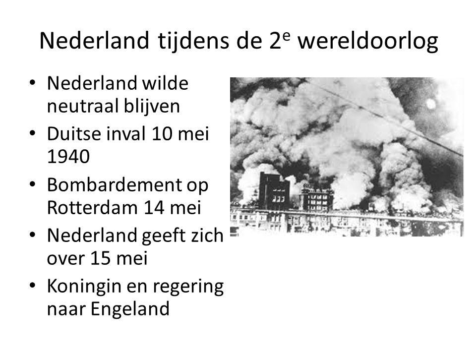 Nederland tijdens de 2e wereldoorlog