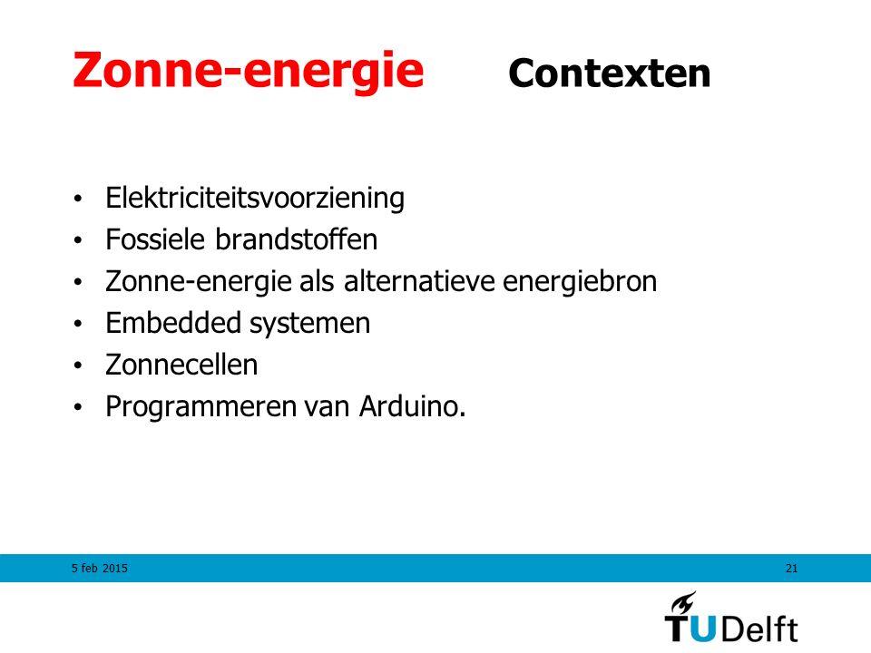 Zonne-energie Contexten