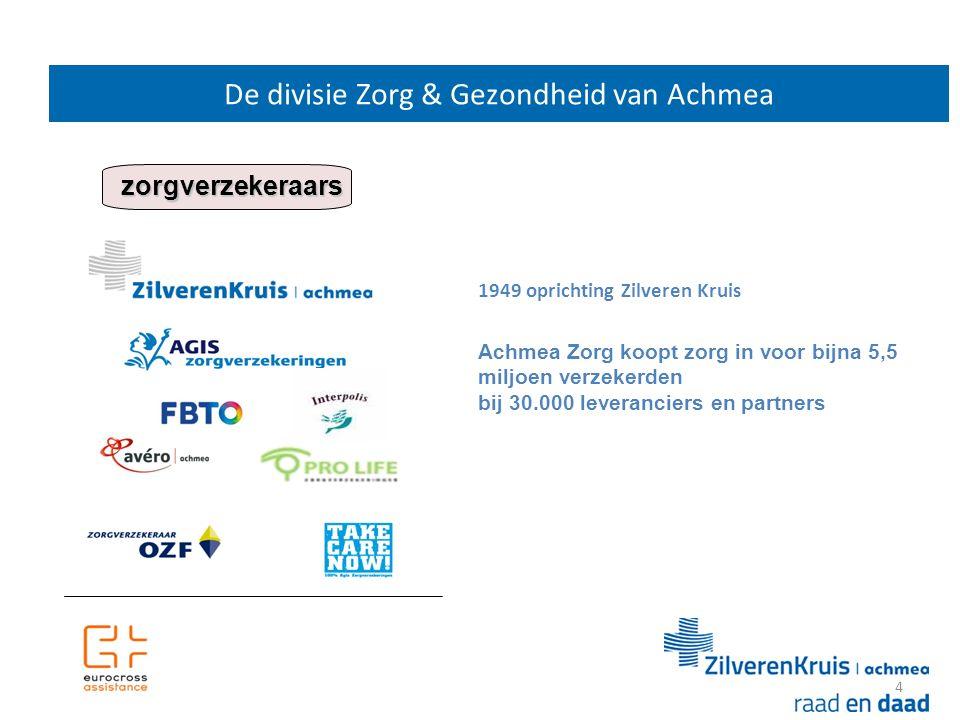 De divisie Zorg & Gezondheid van Achmea