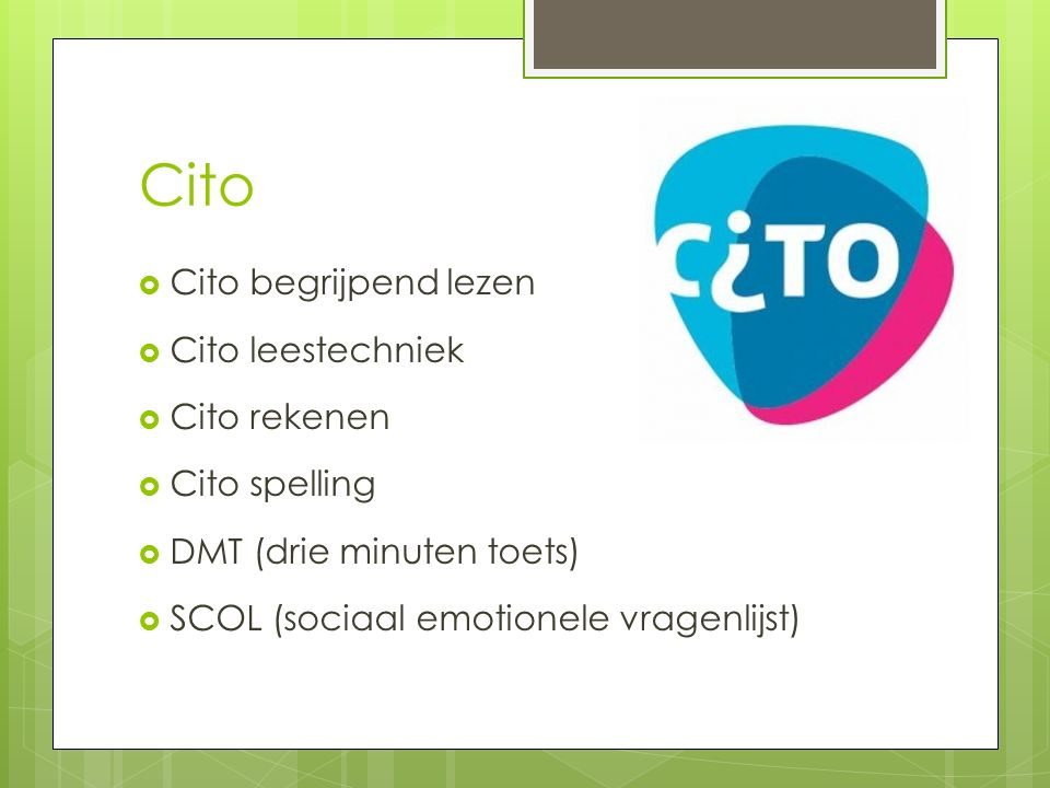 Cito Cito begrijpend lezen Cito leestechniek Cito rekenen